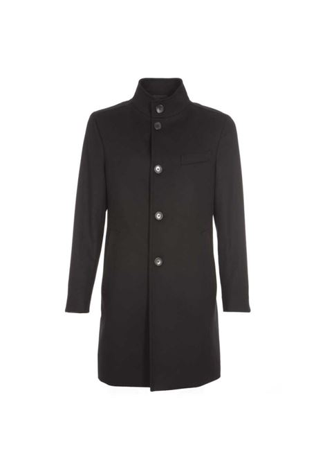 Shanty 3 Slim fit coat in virgin wool and cashmere-black BOSS | Overcoat | 50438690001