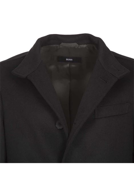 Shanty 3 Slim fit coat in virgin wool and cashmere-black BOSS | Coat | 50438690001