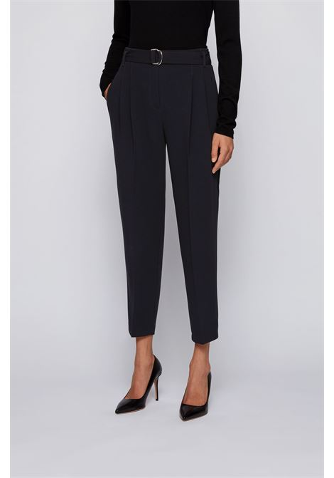 Regular fit crepe trousers with pouch waist BOSS | Trousers | 50438985001