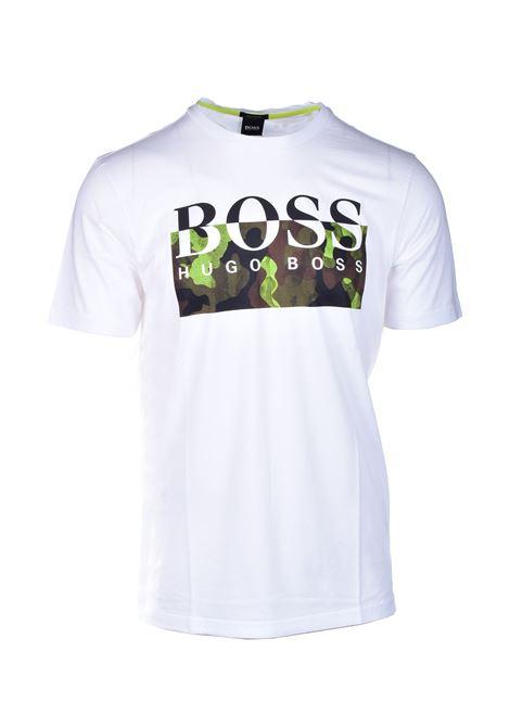 T-shirt in cotone Pima con logo stampato BOSS | T-shirt | 50439032102