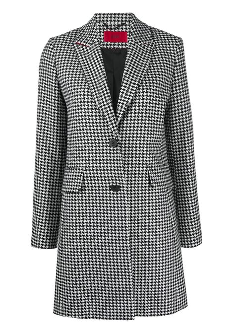 Classic coat with houndstooth print BOSS | Coat | 50439217001