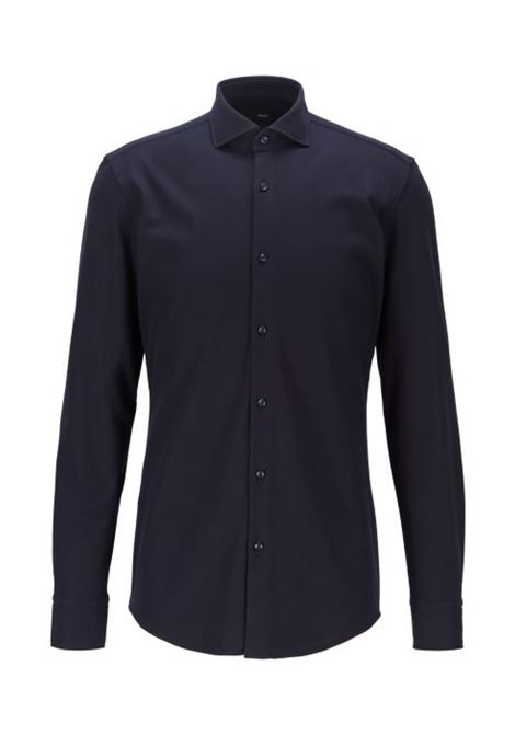 Slim fit cotton shirt with natural elasticity BOSS | Shirts | 50439224410