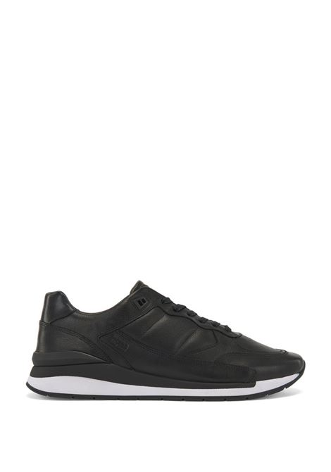 Element Runn Sneakers stringate in pelle martellata con cuciture impunturate BOSS | Scarpe | 50439575001