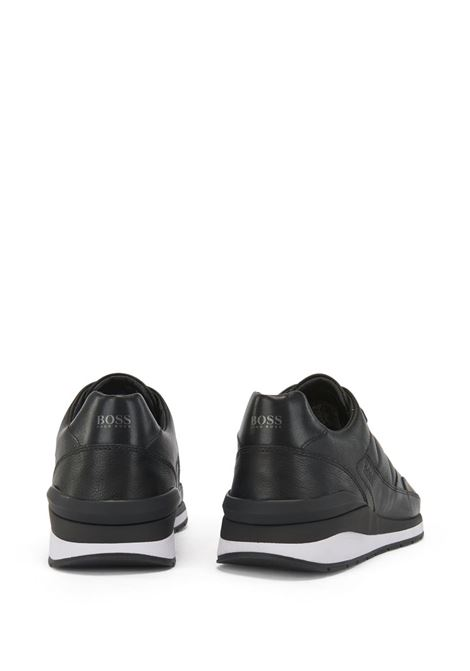 Element Runn Lace-up sneakers in hammered leather with stitched seams BOSS | Sneakers | 50439575001