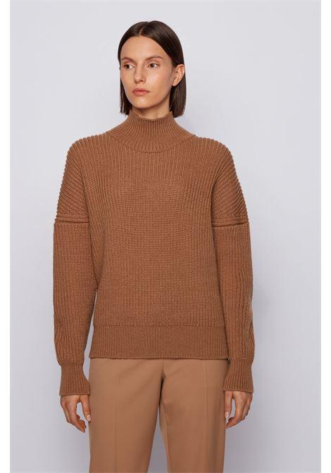 Maglione oversize a lupetto in lana vergine BOSS | Maglieria | 50441663235