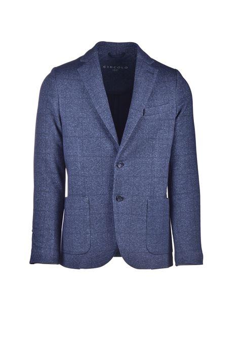 Single-breasted blue checked blazer CIRCOLO 1901 | Blazers | CN2807BLU