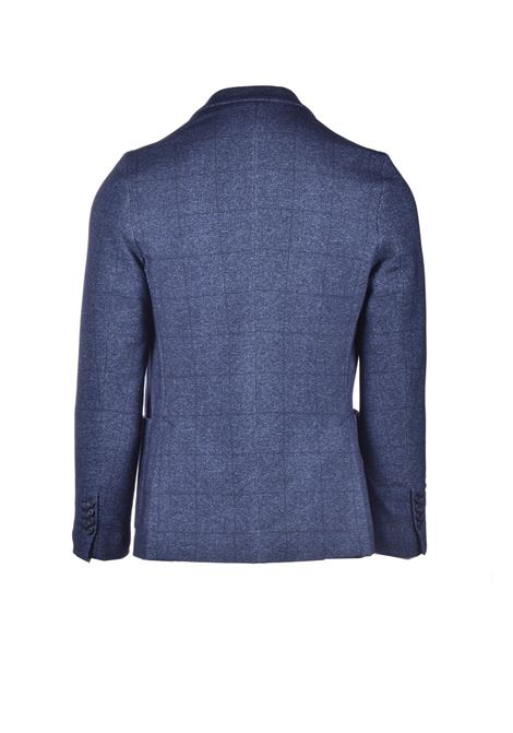 Single-breasted blue checked blazer CIRCOLO 1901 | Blazers | CN2807BLU