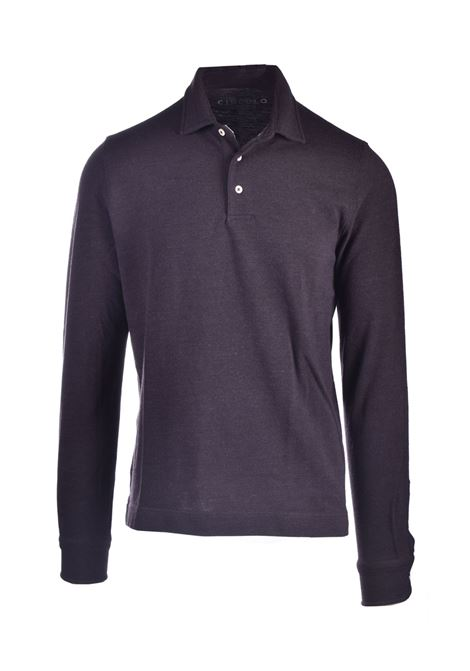 Polo shirt in cotton and dark brown wool CIRCOLO 1901 | Knitwear | CN2865MORO