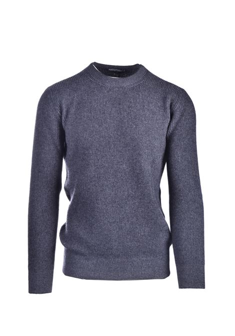 Gray virgin wool blend crewneck sweater CIRCOLO 1901 | Knitwear | CN2898GRMEL