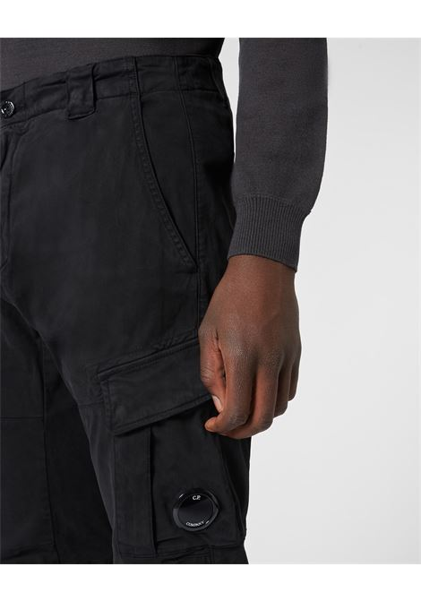 Garment Dyed Stretch Sateen Fitted Lens Pocket Pants C.P. COMPANY | Trousers | 09CMPA131A005529G999