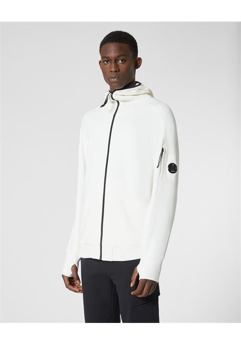 Diagonal Raised Fleece Full Zip Lens Hoodie C.P. COMPANY | Sweatshirt | 09CMSS035A005086W103