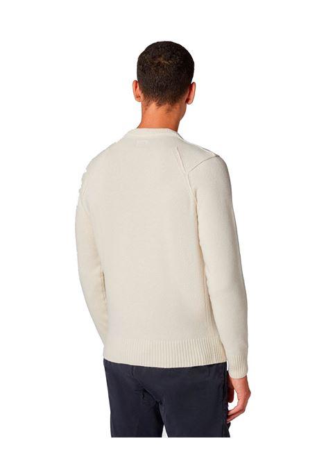 Maglione girocollo in lana d'agnello bianco C.P. COMPANY | Maglieria | 09CMKN111A005504A103