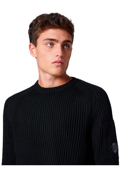 Maglia girocollo in misto lana merino C.P. COMPANY | Maglieria | 09CMKN221A005292A999
