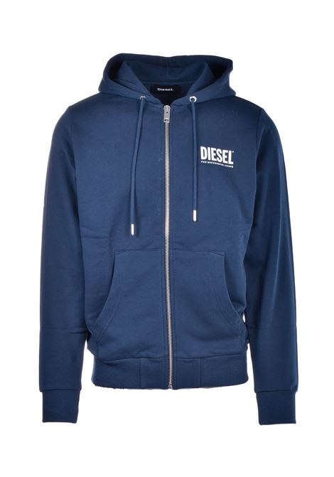 Sweatshirt with zip and hood with logo prints DIESEL | Sweatshirt | 00SAV1 0BAWT81E