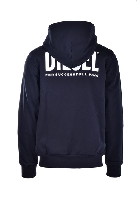 Sweatshirt with zip and hood with logo prints DIESEL | Sweatshirt | 00SAV1 0BAWT900