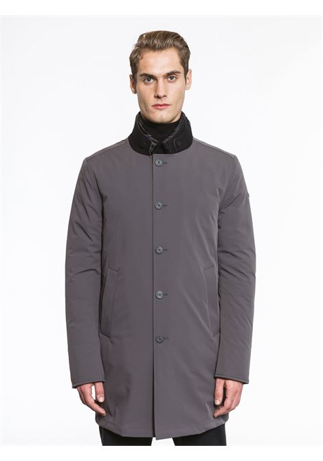 Padded coat in technical fabric grigio antracite DUNO | Coat | PALLADIUM471