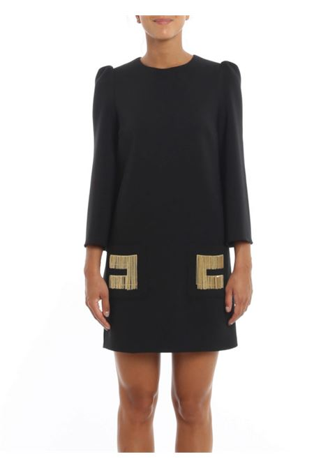 Short dress in black crepe ELISABETTA FRANCHI | Dresses | AB04206E2110
