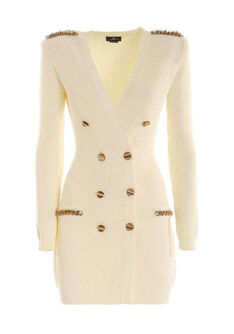 Butter double breasted cardigan dress ELISABETTA FRANCHI | Dresses | AM24S06E2193