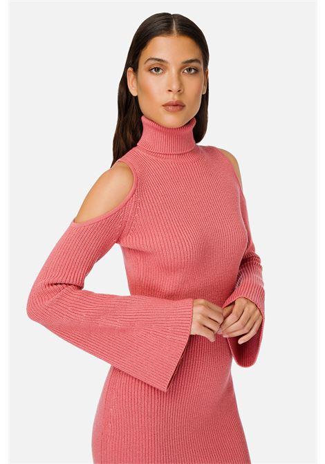 Knitted sheath dress with peony pink porthole neckline ELISABETTA FRANCHI |  | AM25S06E2D89