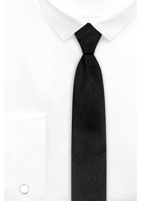 Round cufflinks with enamel detail - white HUGO | Cufflinks | 50316087199