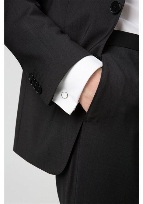 Round cufflinks with enamel detail - white HUGO | Cuff Links | 50316087199