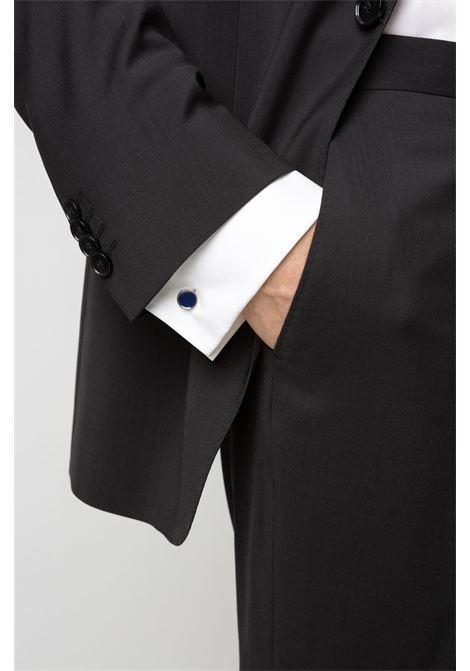 Round cufflinks with enamel detail - navy HUGO | Cuff Links | 50316087413