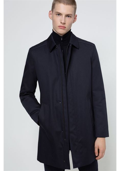 Short dark blue waterproof coat HUGO | Coat | 50430495405