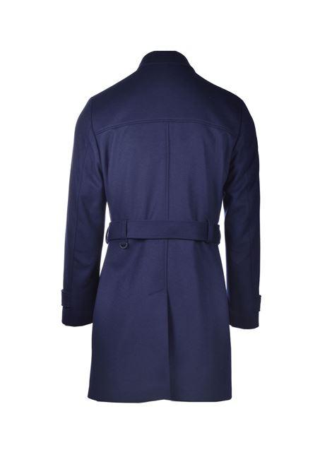 Cappotto trench in lana vergine blu scuro HUGO | Cappotti | 50435595405