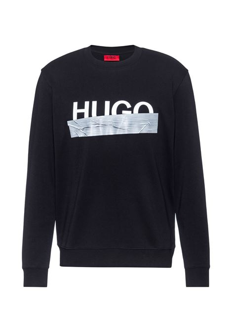 Sweatshirt in woven cotton with logo HUGO | Sweatshirt | 50436126001