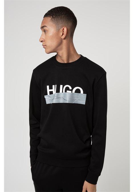 Felpa in cotone intreccciato con logo HUGO | Felpe | 50436126001