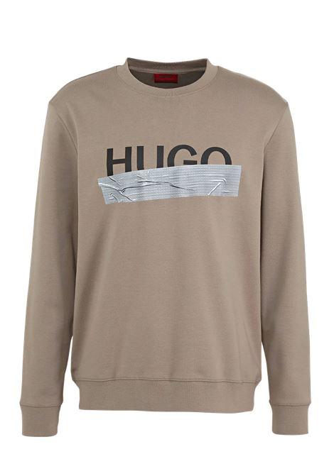 Felpa in cotone intreccciato con logo HUGO | Felpe | 50436126238