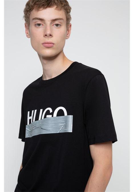 dicagolino T-shirt regular fit con grafica con logo HUGO | T-shirt | 50436413001