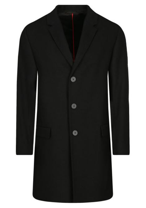 Tailored coat in black wool blend HUGO | Coat | 50438378001
