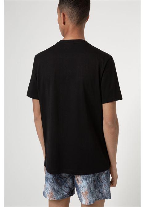 Dangri T-shirt with African cotton brand poster print HUGO | T-shirt | 50438623001