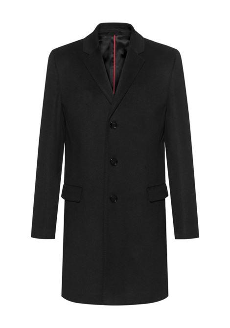 Elegant slim fit coat in pure cachmere black HUGO | Coat | 50438921001
