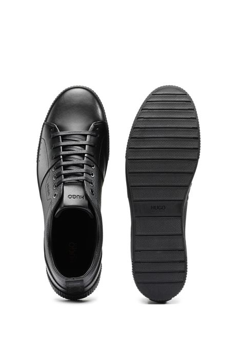 Zero Tenn Tennis-style sneakers in smooth and textured leather HUGO | Sneakers | 50440323001