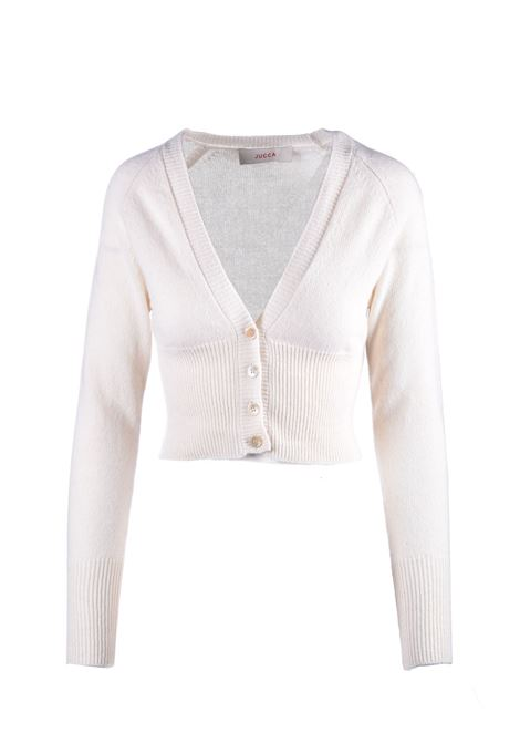 Cardigan corto in cachmere panna JUCCA | Maglieria | J3211007045