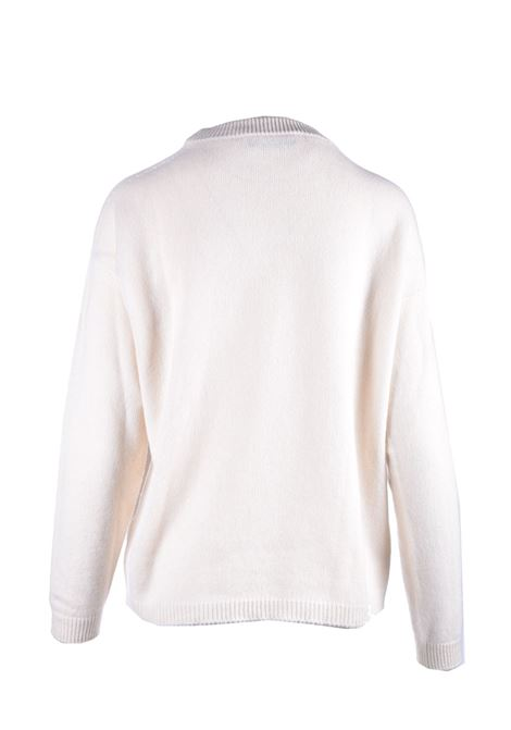Relaxed fit sweater in cream cachmere JUCCA | Knitwear | J3211008045