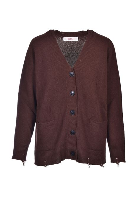 virgin wool cardigan with tears JUCCA | Sweaters | J3211069129