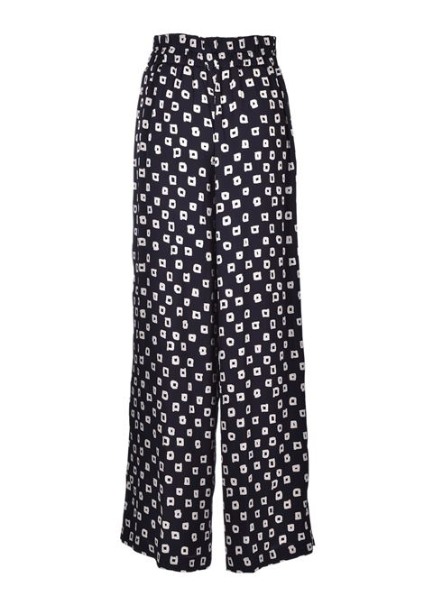 Wide palazzo trousers with checks JUCCA | Trousers | J3214040003