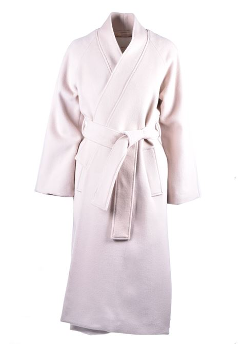 Kimono coat in virgin wool with belt JUCCA | Overcoat | J3216002317