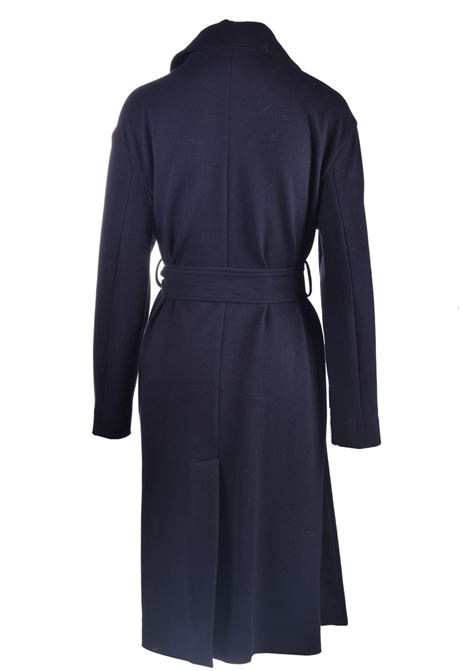 Duster coat with belt in black fleece JUCCA | Coat | J3216014003