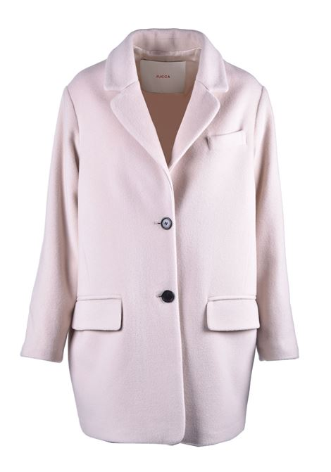 Short ovetto coat in virgin nougat wool JUCCA | Coat | J3216015317