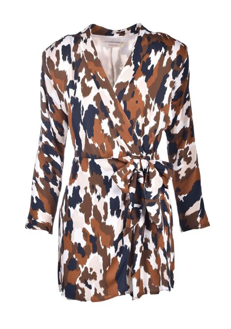 Short kimono dress in camoufflage patterned georgette JUCCA | Dresses | J32170611675