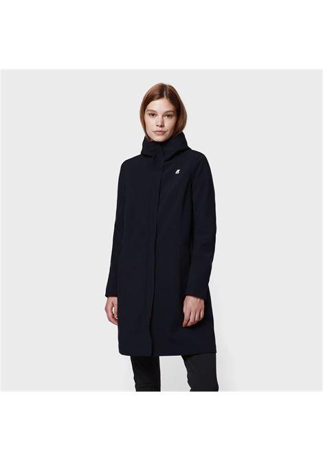 stephanie bonded - Black pure K-WAY | Overcoat | K008JY0A1I