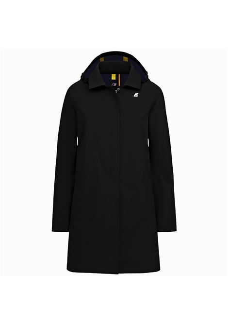 mathilde bonded - black pure K-WAY | Overcoat | K008KK0A1I