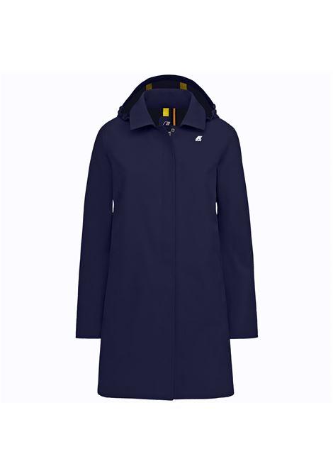 mathilde bonded - blue K-WAY   Coat   K008KK0A2D