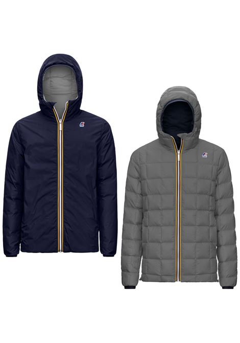 Jacques thermo plus double blue and gray K-WAY | Jackets | K111BEWA24