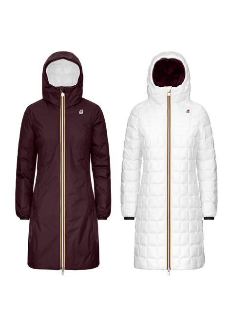 Parka reversibile Charlene thermo marrone e bianco K-WAY | Cappotti | K111BIWA3M