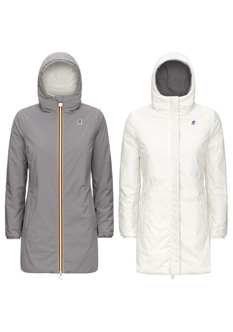 Sophie warm double gray and white K-WAY   Coat   K111J8WA2G